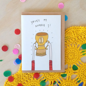 'You're my number One!' Greeting Card