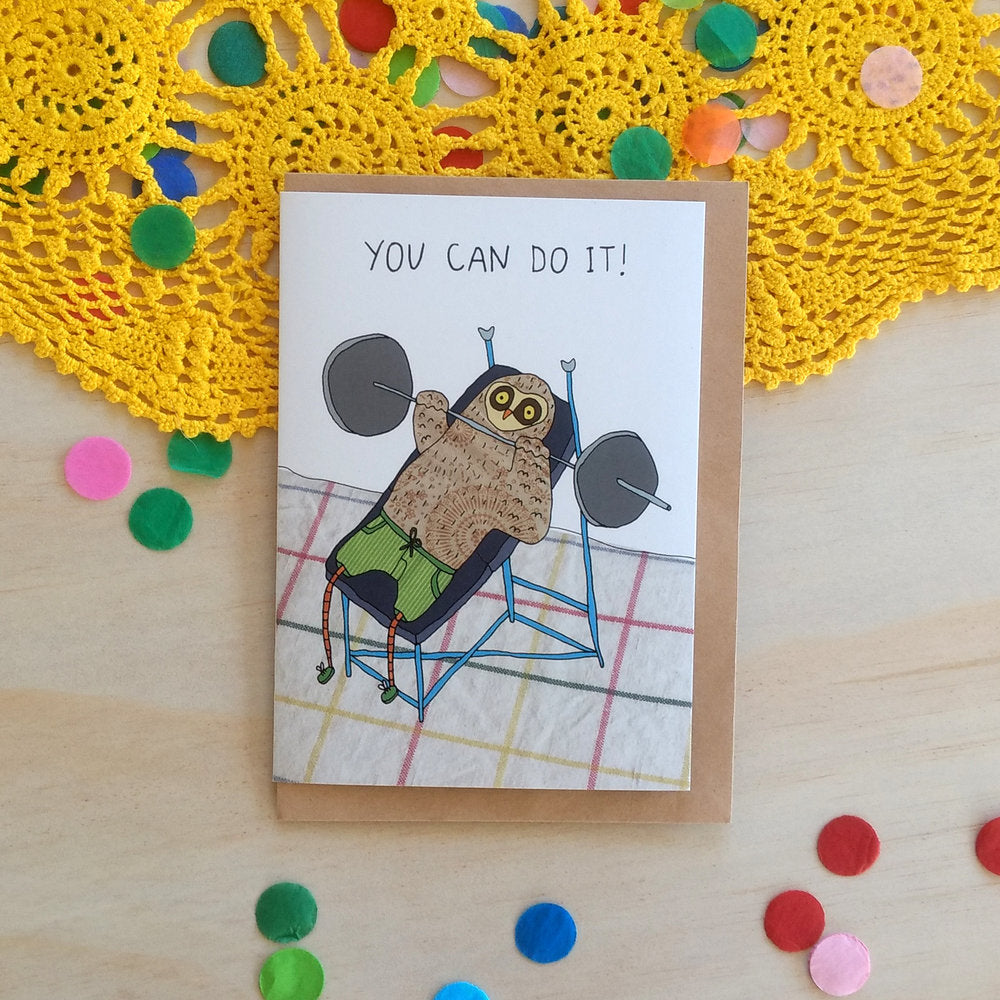 'You Can Do It!' Greeting Card