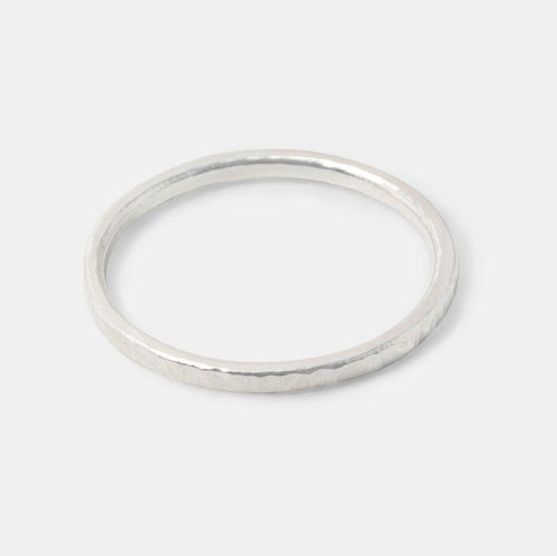 Silver Stacking Ring Single Size P-
