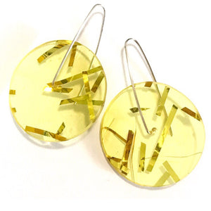 Single Tinsel Earrings in Yellow