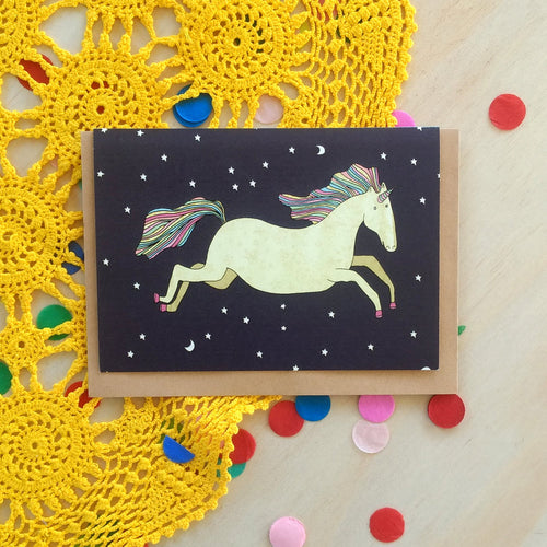 'Unicorn' Greeting Card
