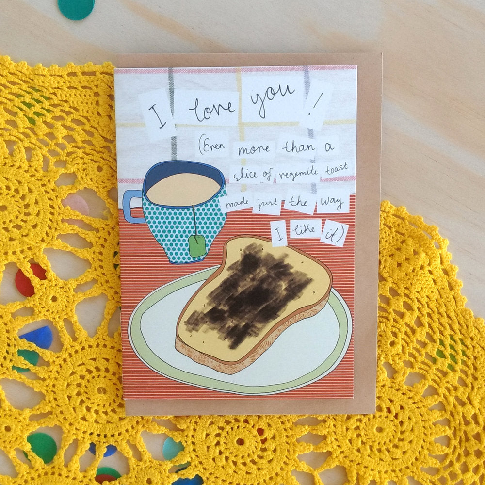 'I love you! Even more than vegemite' Greeting Card