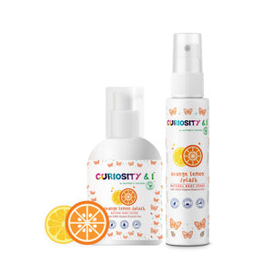 GiftPack - Kids Natural Body Lotion & Body Spray - Orange Lemon Splash - Curiosity&I