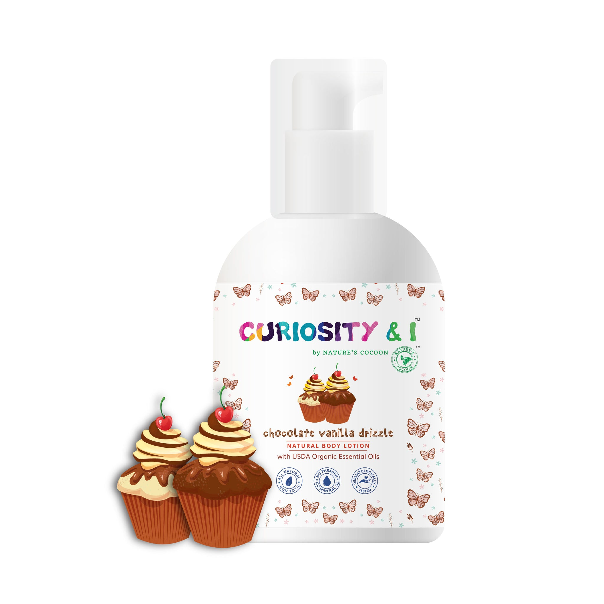 Kids Natural Body Lotion - Chocolate Vanilla Drizzle (150ml) - Curiosity&I