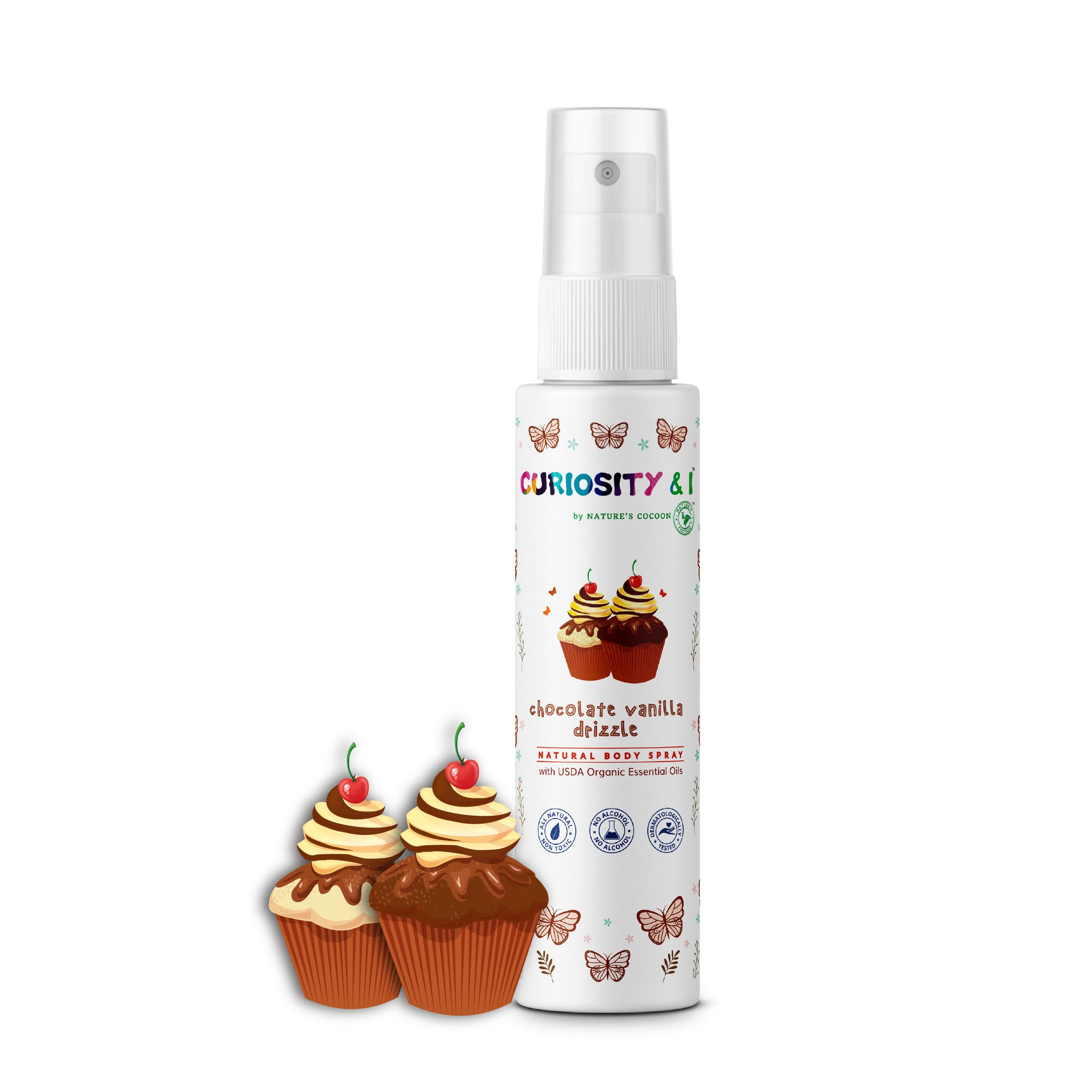 Kids Natural Body Spray - Chocolate Vanilla Drizzle (100ml) - Curiosity&I