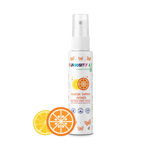 Kids Natural Body Spray - Orange Lemon Splash (100ml) - Curiosity&I