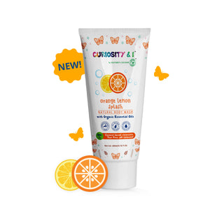 Kids Natural Body Wash - Orange Lemon Splash (200ml) - Curiosity&I