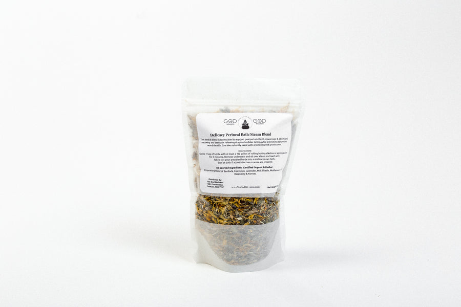 Delicacy (After Birth, Miscarriage, Abortion) Herbal Steam/Bath Blend - (4 Treatments) - Honey Pot Method