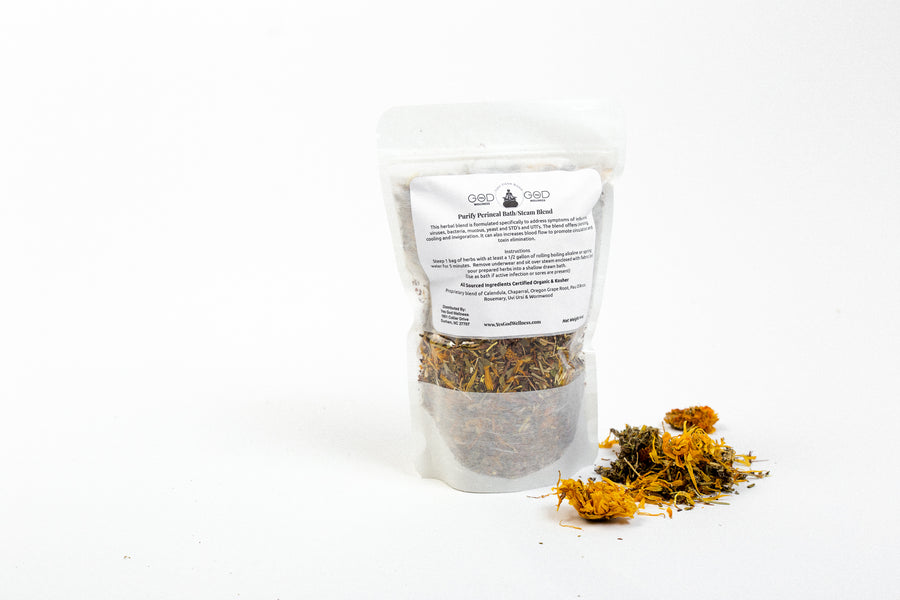 Purify (BV, Yeast, UTI) Herbal Herbal Steam/Bath Blend - (4 Treatments) - Honey Pot Method