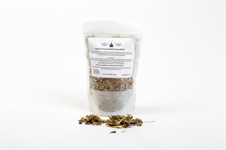 Refresh (Libido, Moisture, Menopause) Herbal Herbal Steam/Bath Blend - (4 Treatments) - Honey Pot Method