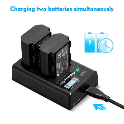 2 Pack NP-FZ100 Replacement Battery and Dual LCD Battery Charger Compatible with Sony Alpha 9