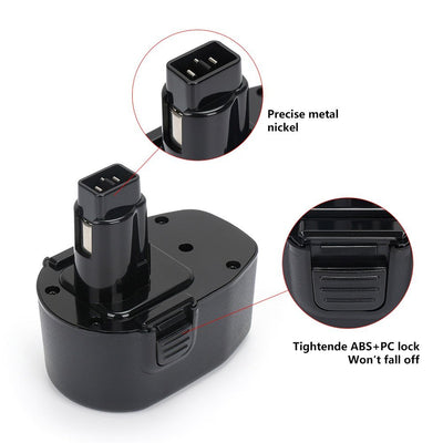 14.4V 2000mAh NI-MH Black & Decker Replacement Battery for Black&Decker PS140A A9262 A9267