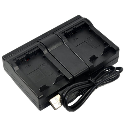 Replacement Battery Charger USB dual for Panasonic DMW-BLF19 DMW-BLF19E DMWBLF19E
