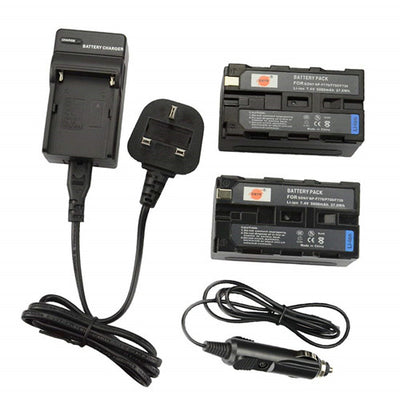 2x NP-F750 Rechargeable Li-ion Battery + DC01U Charger Adapter for Sony CCD-SC5 CCD-TRV80PK
