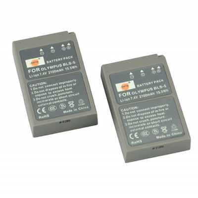 2x BLS-5 Rechargeable Li-ion Battery for Olympus E-400 E-410 E-420 E-450 E-600 E-620 E-P1