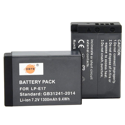 2-Pack Battery and Dual USB Quick Charger Kit for Canon LP-E17 EOS M3 M5