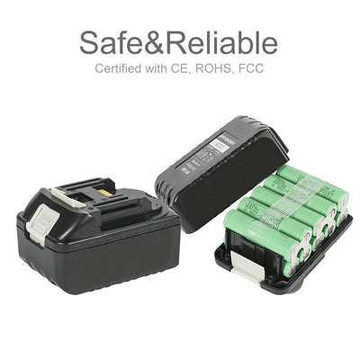 5.5 Ah 18V Lithium-Ion Replacement Battery Pack for Makita BL1855B BL1830 BL1830B BL1840