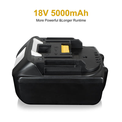 18V 5.0Ah Li-ion Replacement Battery for Makita 194205-2 LXT-400 BL1850 BL1835 BL1830