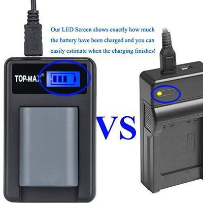 2x Battery+ LCD Charger for NB-2L NB-2LH Canon EOS 350D 400D G7 G9 ZR100 ZR200
