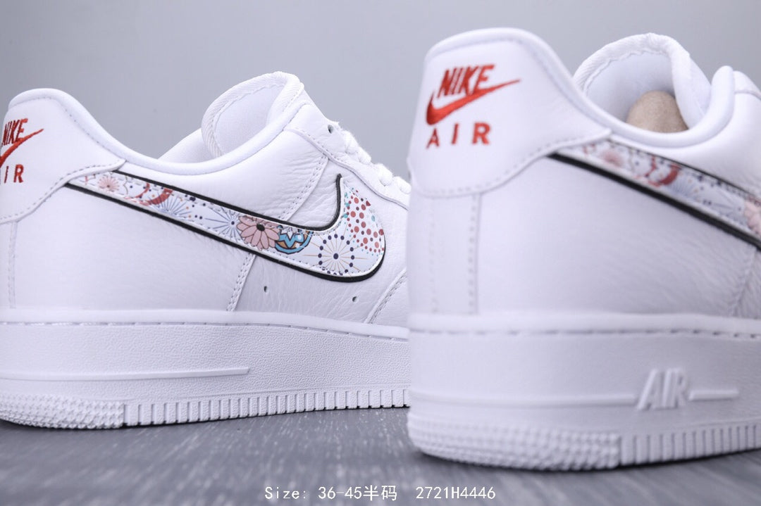 Nike Air Force 1 07 LNY QS Low Sneaker White Flower - Bosimol