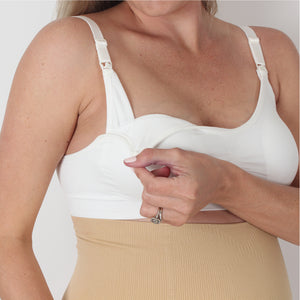 Kirsti Seamless Super Stretch Nursing Bra | White