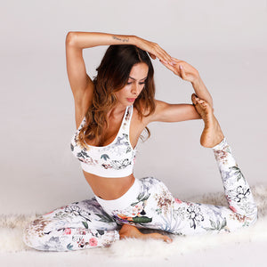 Fitness Wear | White Floral