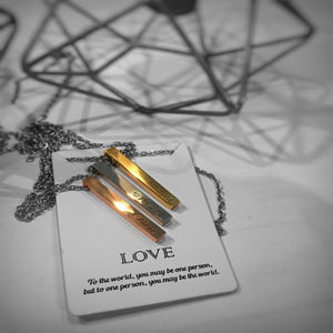 Vertical Love Bar Necklace
