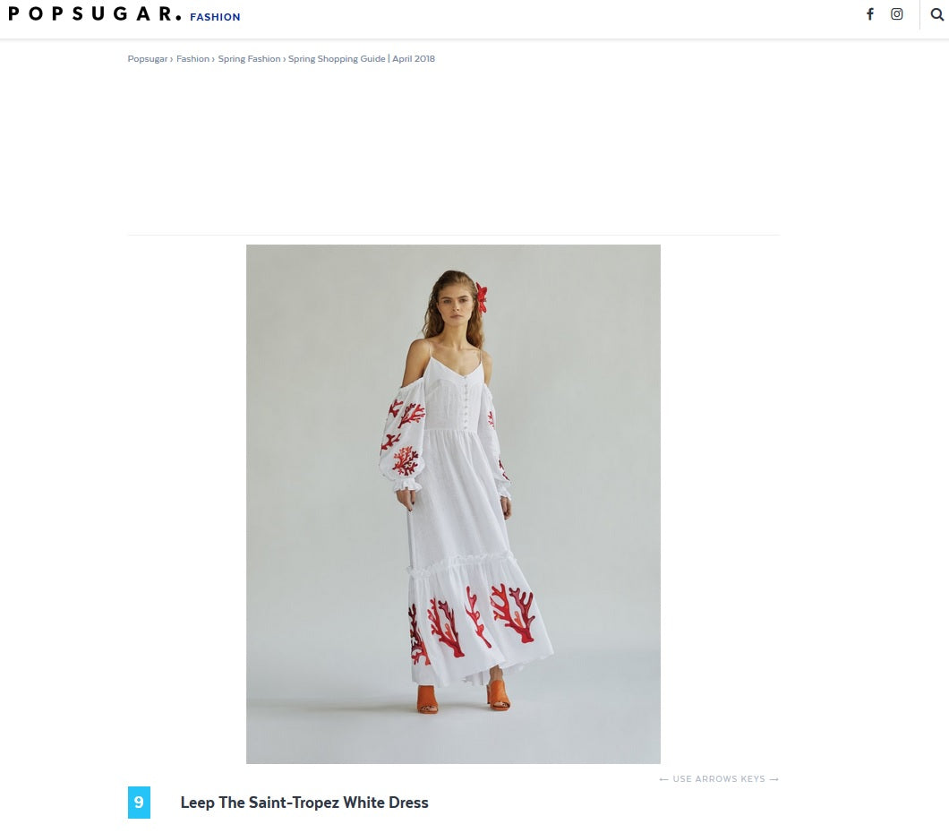 Lee Pfayfer  The Saint-Tropez White Dress is featured on Pop Sugar