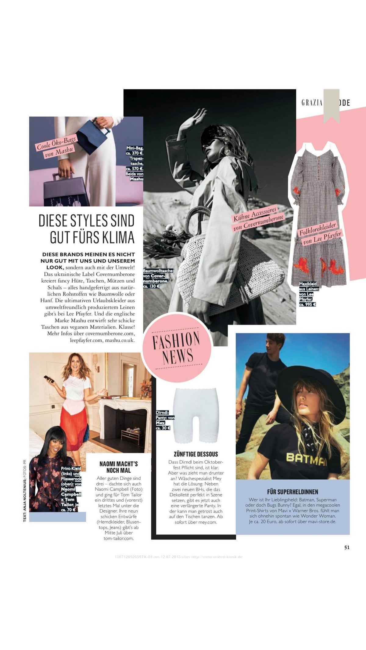 Lee Pfayfer Dress is featured in Grazia DE print edition