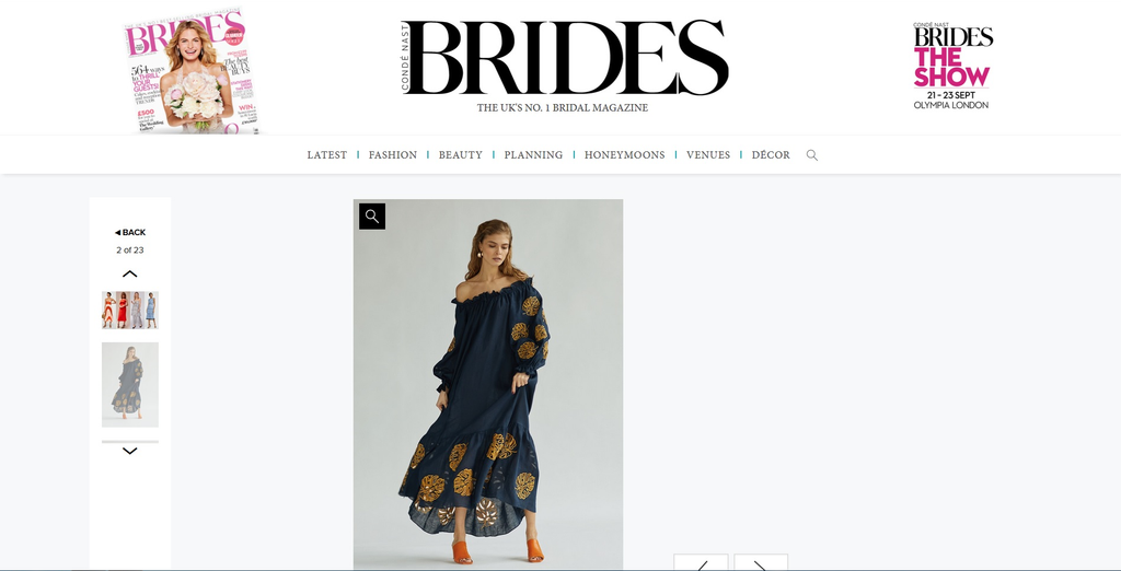 Lee Pfayfer  Dress in featured items list Brides UK Conde Nast