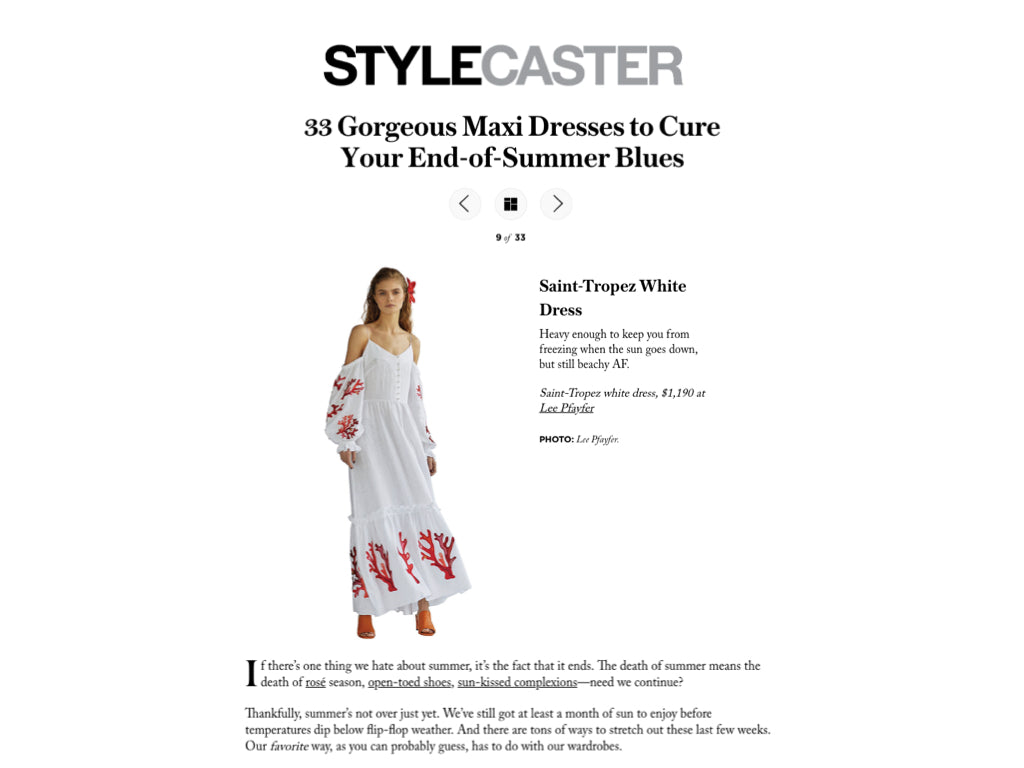 Lee Pfayfer Dress is featured in StyleCaster