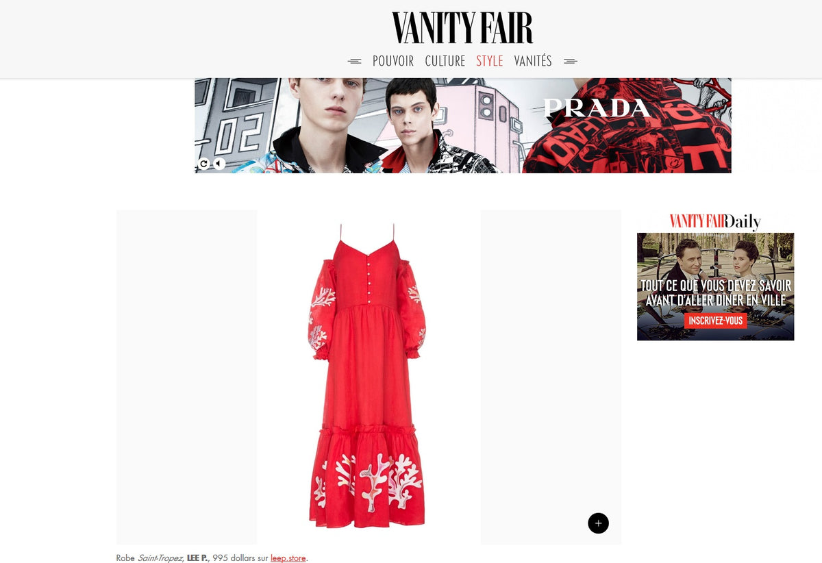 Lee Pfayfer  Dress in Vanity Fair's List of 20 top red items