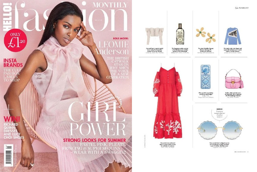 Lee Pfayfer Dress is on the pages of Hello Magazine August print edition