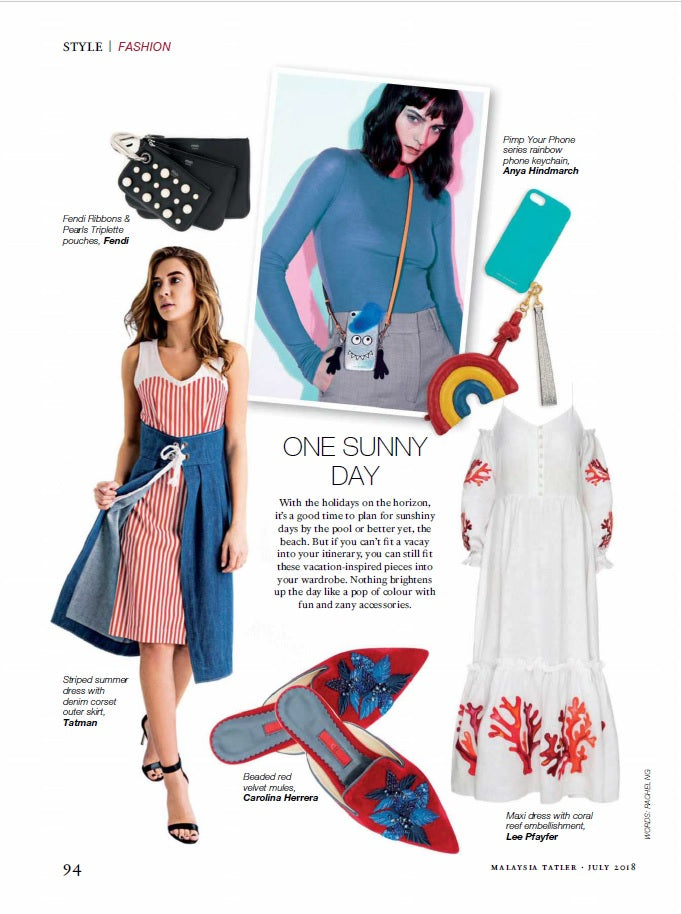 Lee Pfayfer Dress is on the pages of Tatler Malasia July's issue