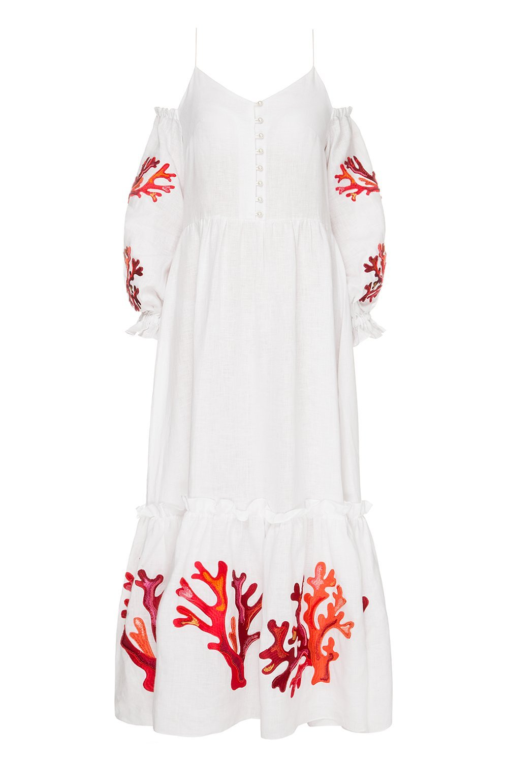 Saint-Tropez White Dress with Beads