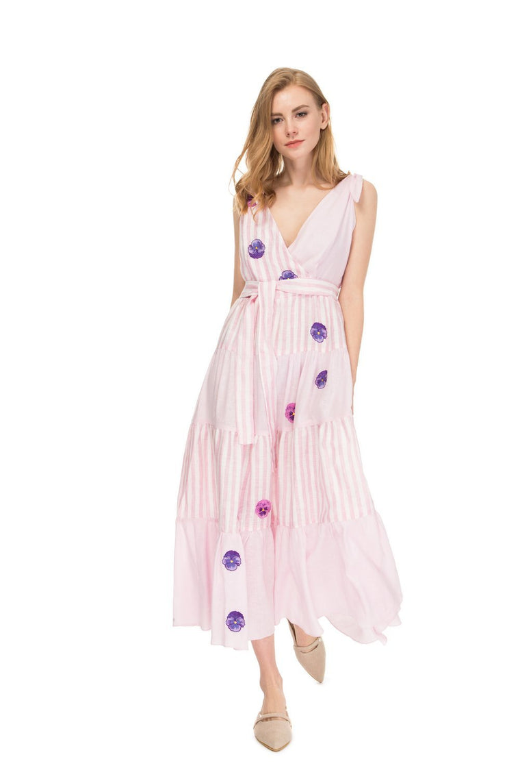 Rose Riviera striped dress