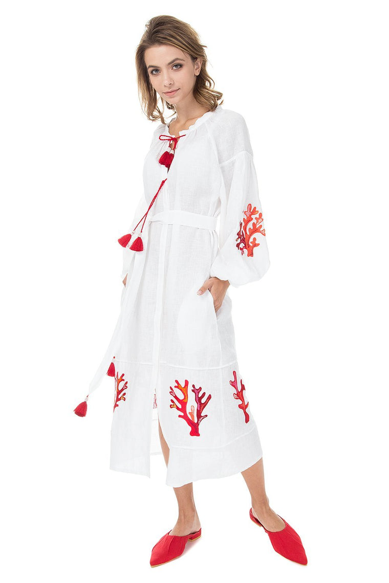 Saint-Tropez Boho White Dress