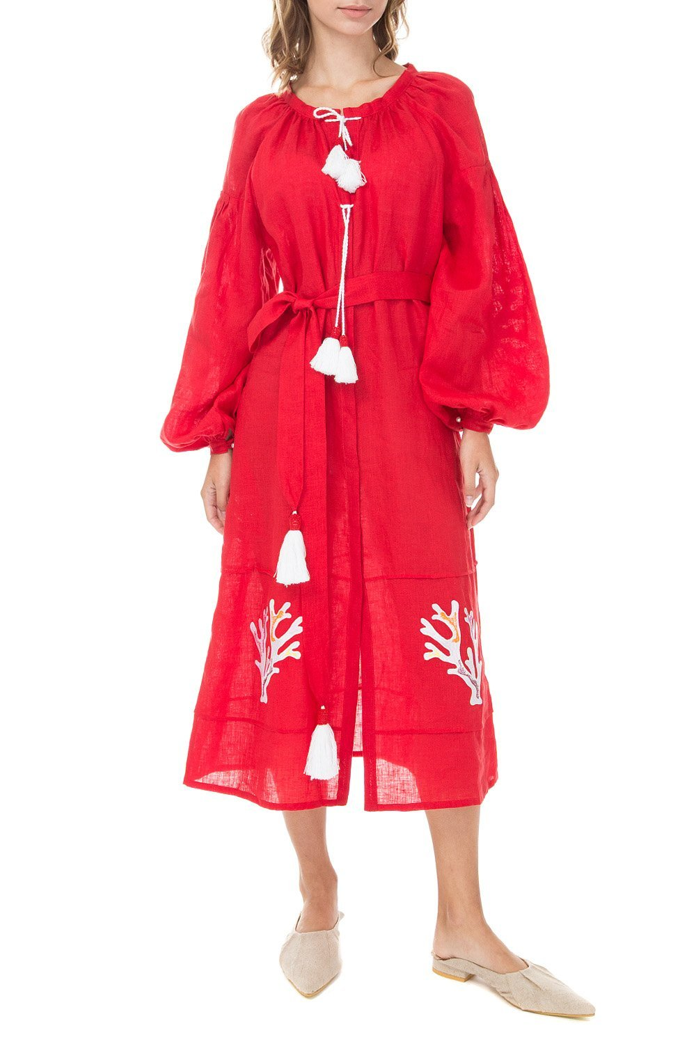 Saint-Tropez Boho Red Dress