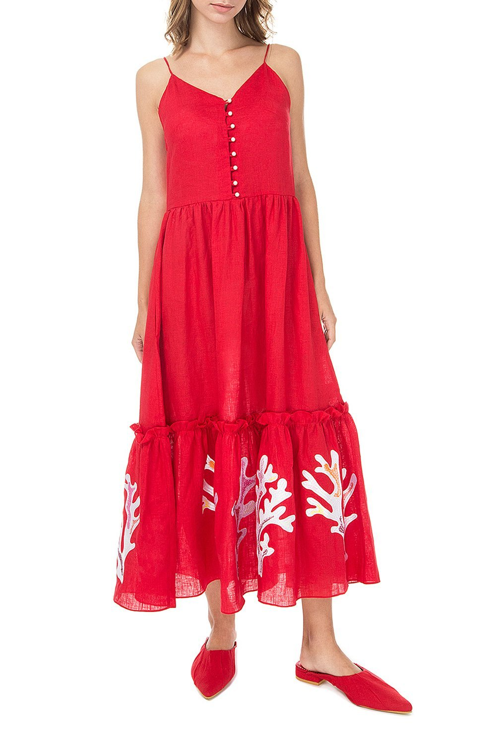 Saint-Tropez No Sleeved Red Dress