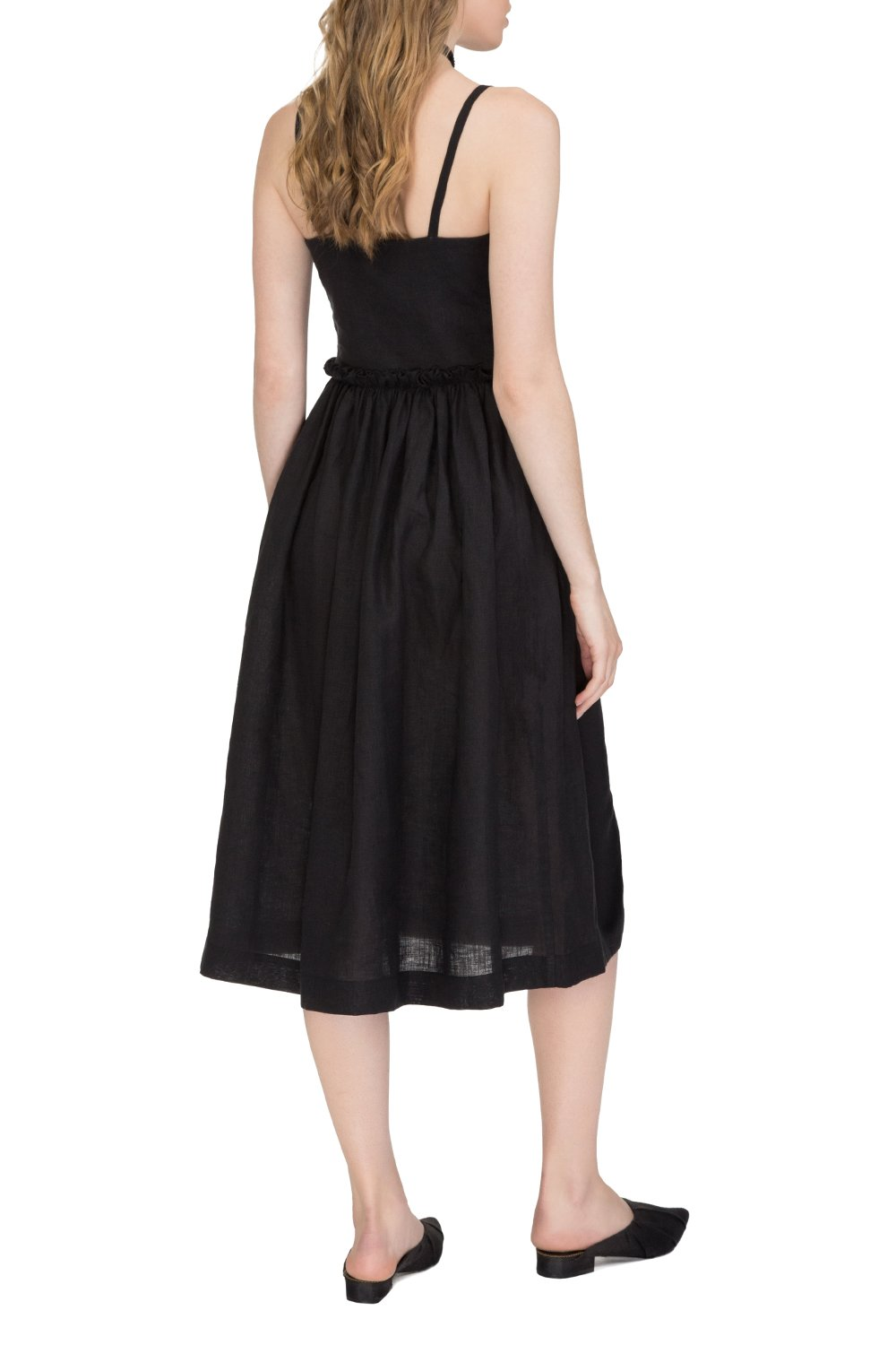Dark night midi dress