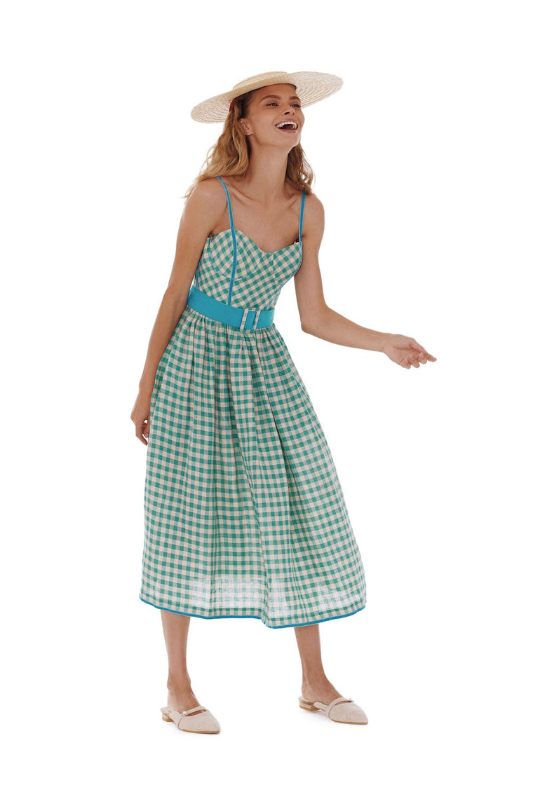 Checked Mint Candy dress