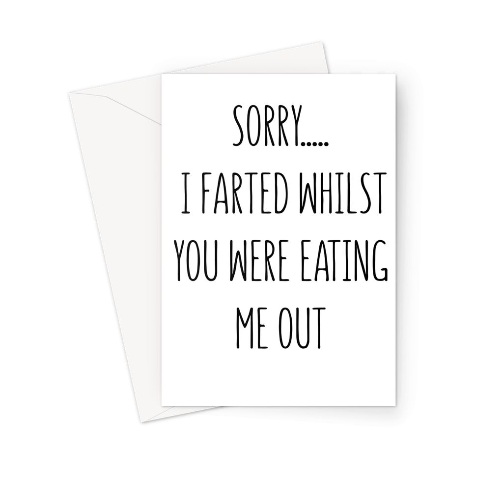 SORRY I FARTED - Nasty Cards