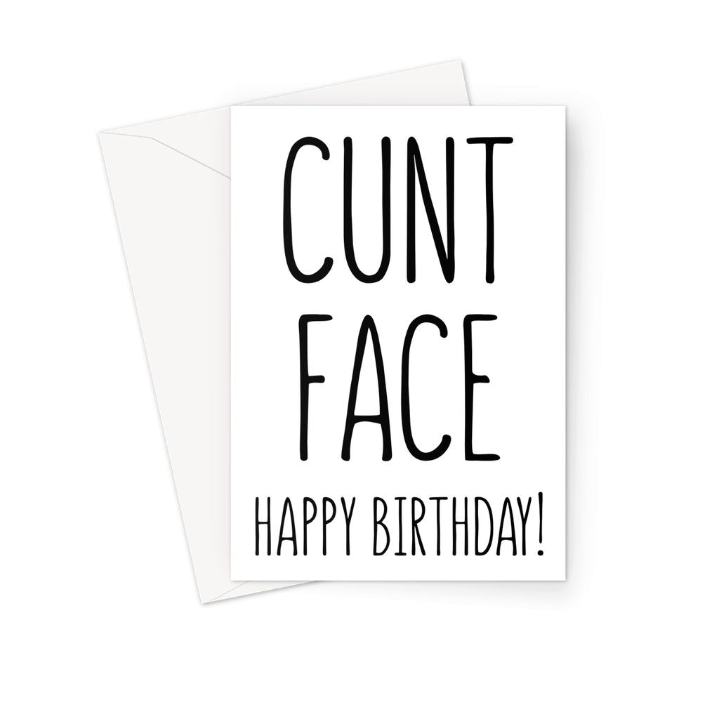 CUNT FACE - Nasty Cards