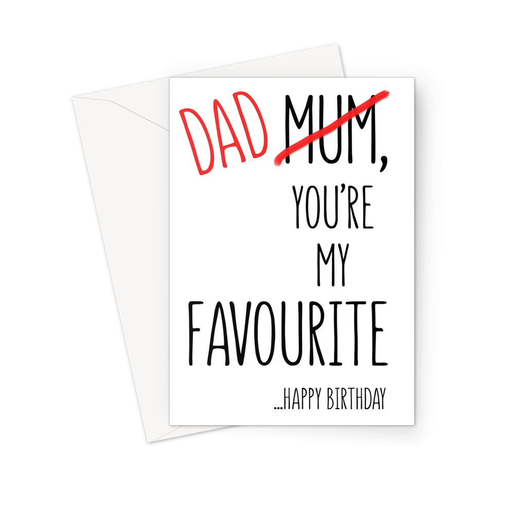 FAVOURITE DAD - Nasty Cards