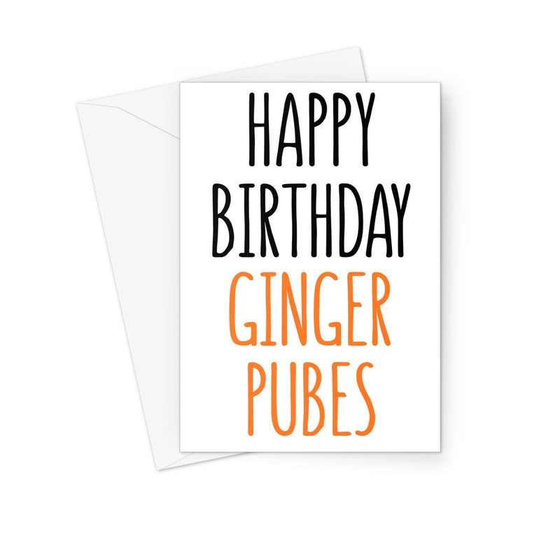 GINGER PUBES - Nasty Cards