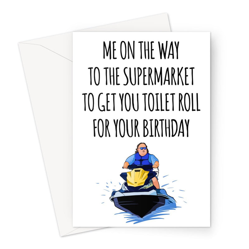 BIRTHDAY TOILET ROLL JET SKI
