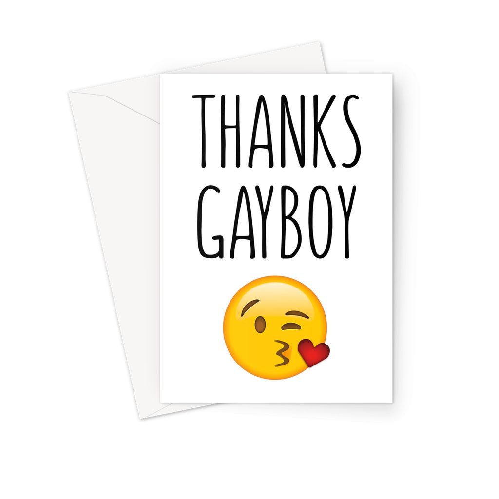 THANKS GAYBOY - Nasty Cards