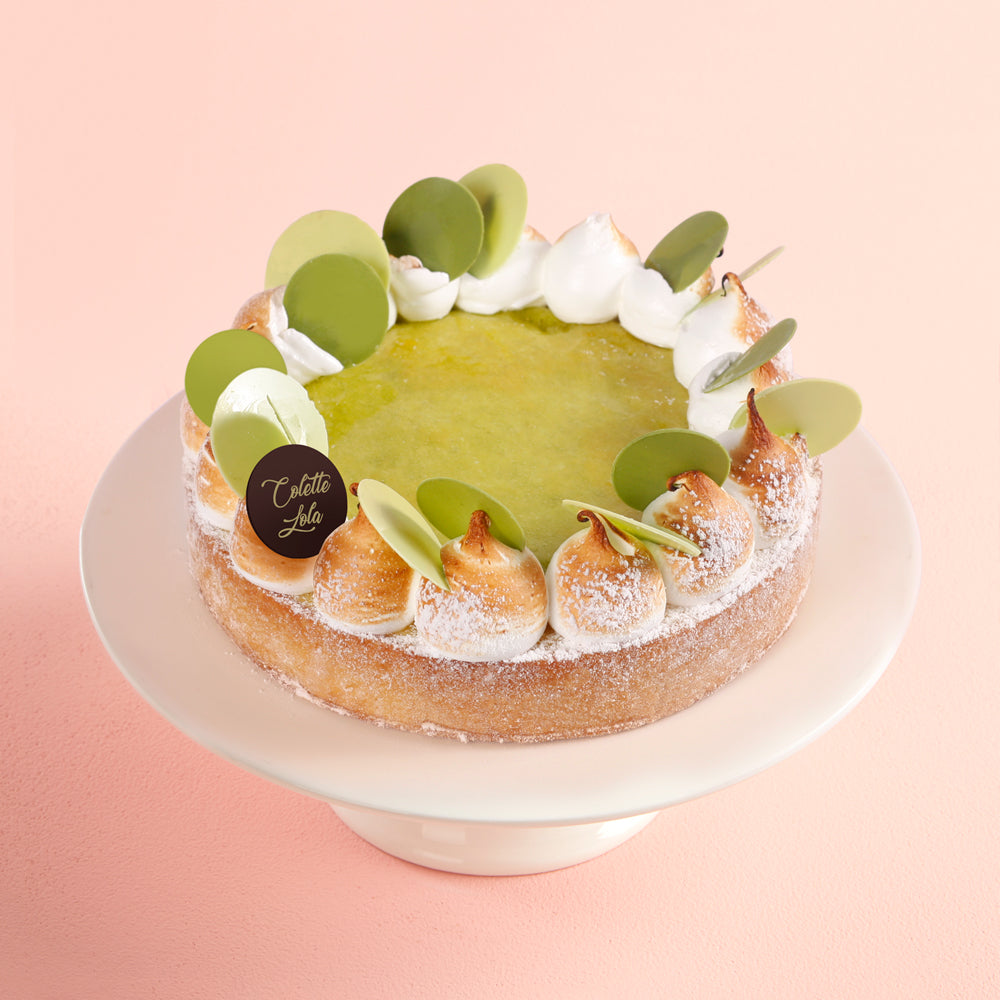 Lemon-Basil Meringue Tart