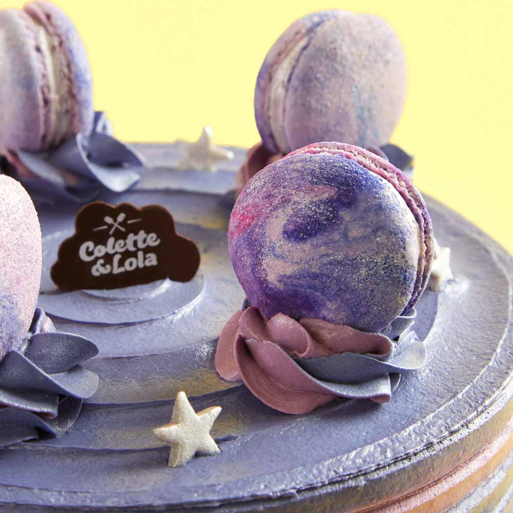 Galaxy Cake - Ovomilo Cream, Chocolate Sponge Cake with Crispy Wafers - Colette & Lola