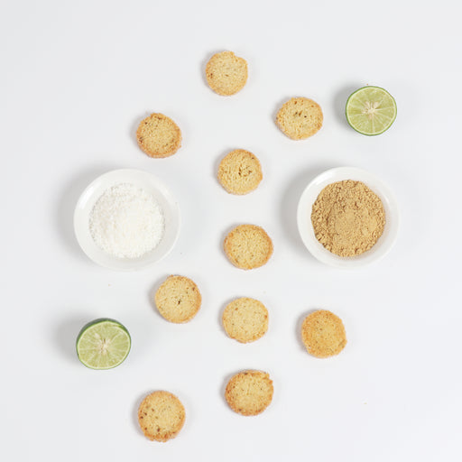 Lime Ginger Coconut Cookies